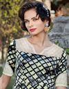 photo of Printed Satin Fabric Multi Color Fancy Party Wear Indo Western Kurti