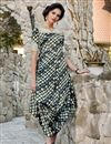 image of Satin Fabric Party Style Multi Color Fancy Printed Indo Western Kurti