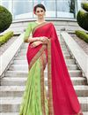image of Excellent Sea Green Art Silk Designer Saree With Embroidery
