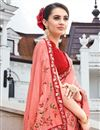photo of Engaging Art Silk Embroidered Pink Designer Saree