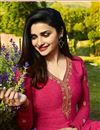 photo of Prachi Desai Festive Wear Designer Crimson Color Crepe Fabric Embroidered Salwar Suit