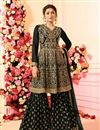 image of Drashti Dhami Embellished Georgette Designer Party Wear Sharara Palazzo Suit