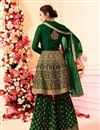 photo of Drashti Dhami Embroidery Work Party Wear Sharara Palazzo Suit In Georgette