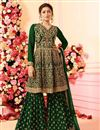 image of Drashti Dhami Embroidery Work Party Wear Sharara Palazzo Suit In Georgette