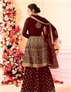 photo of Drashti Dhami Georgette Designer Sharara Palazzo Suit Embroidery Work
