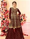 image of Drashti Dhami Georgette Designer Sharara Palazzo Suit Embroidery Work
