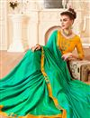 photo of Embroidered Party Wear Fancy Saree In Green Art Silk