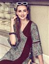 photo of Beautiful Prints On Grey Casual Wear Rayon Readymade Kurti