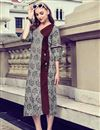 image of Beautiful Prints On Grey Casual Wear Rayon Readymade Kurti