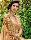 photo of Art Silk Embroidered Party Wear Fancy Saree In Beige