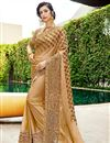 image of Art Silk Embroidered Party Wear Fancy Saree In Beige