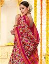 photo of Casual Festive Wear Printed Saree In Cotton Silk Fabric Grey