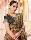 photo of Multi Color Printed Casual Style Saree In Cotton Silk Fabric