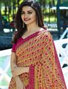 photo of Prachi Desai Georgette Party Wear Printed Saree In Cream