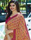 photo of Prachi Desai Cream Printed Designs Georgette Office Wear Saree