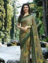 image of Prachi Desai Dark Beige Georgette Printed Designer Saree
