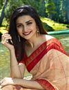 photo of Prachi Desai Georgette Designer Printed Saree In Light Salmon