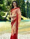 image of Prachi Desai Georgette Designer Printed Saree In Light Salmon