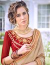 photo of Embroidered Red Georgette Designer Saree