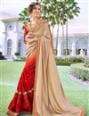 image of Embroidered Red Georgette Designer Saree