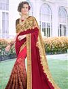 image of Art Silk Fabric Party Wear Embroidered Saree In Maroon