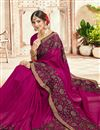 photo of Rani Color Party Style Georgette Fancy Embroidered Saree
