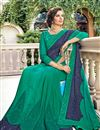 photo of Function Wear Art Silk Teal Embroidered Saree