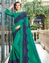 image of Function Wear Art Silk Teal Embroidered Saree