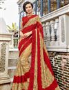 image of Art Silk Beige Sangeet Wear Fancy Saree With Embroidery