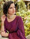 photo of Function Wear Art Silk Purple Color Embroidered Saree