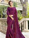 image of Function Wear Art Silk Purple Color Embroidered Saree