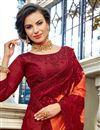 photo of Function Wear Art Silk Orange Color Embroidered Designer Saree