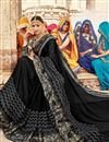 photo of Fancy Wedding Wear Georgette Black Saree With Lace Border
