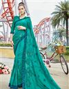 image of Cyan Art Silk Fabric Function Wear Embroidered Saree