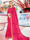 image of Pink Georgette Fabric Function Wear Embroidered Saree