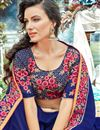 photo of Party Wear Georgette Fabric Navy Blue Plain Saree With Fancy Border
