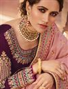 photo of Art Silk Wedding Function Wear Pink Saree With Embroidery Work