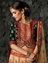 photo of Wedding Wear Art Silk Beige Fancy Designer Lehenga With Embroidery Work
