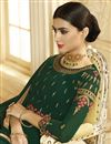 photo of Georgette Fabric Dark Green Party Wear Anarkali Suit With Embroidery Work