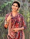 photo of Puja Wear Chikoo Color Printed Work Saree In Georgette Fabric