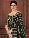 photo of Festive Wear Black Art Silk Fancy Checks Print Saree