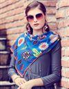 photo of Chic Grey Art Silk Plain Indowestern Party Wear Kurti With Stole