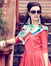 photo of Chic Peach Art Silk Plain Indowestern Party Wear Kurti With Stole