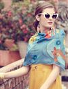 photo of Classy Art Silk Indowesteren Kurti With Printed Stole In Yellow