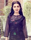 photo of Fancy Navy Blue Party Style Printed Kurti In Art Silk