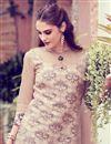 photo of Printed Art Silk Beige Fancy Office Wear Kurti