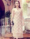 image of Printed Art Silk Beige Fancy Office Wear Kurti