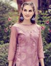 photo of Printed Art Silk Pink Color Fancy Office Wear Kurti