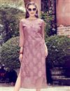 image of Printed Art Silk Pink Color Fancy Office Wear Kurti