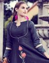 photo of Navy Blue Casual Style Printed Gown Style Long Kurti In Art Silk